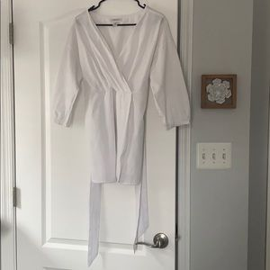 Classic White Blouse in Maternity Size